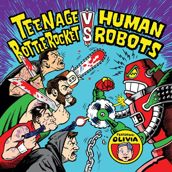 Split Teenage Bottlerocket / Human Robots (Cover by Chris Shary)