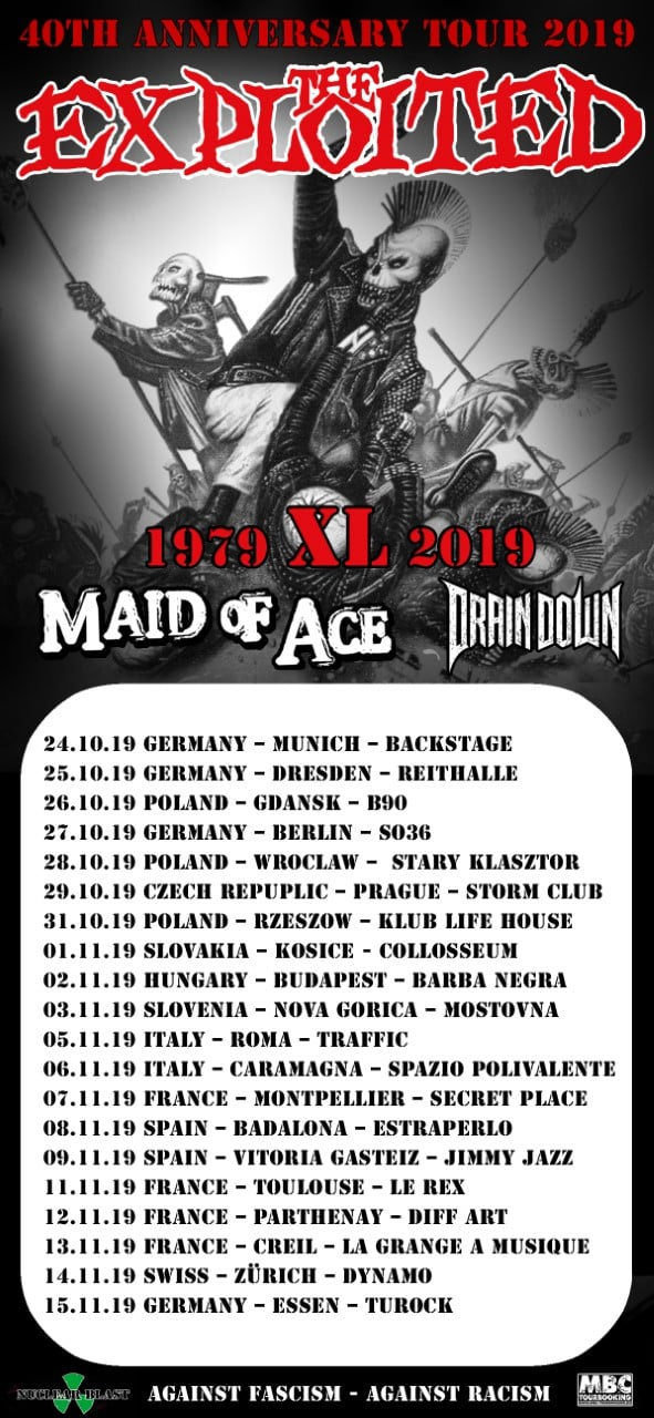 40 Jahre The Exploited - Europa-Tour 2019 (Part I)