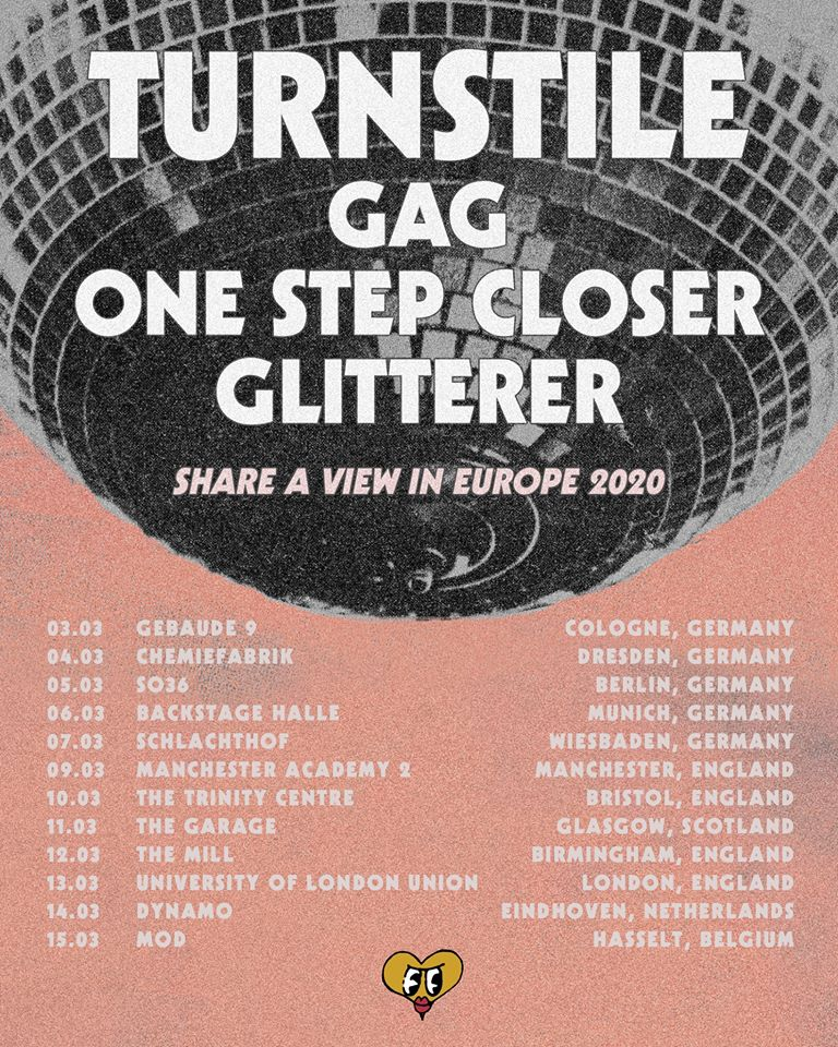 Turnstile - Europa-Tour 2020 w. GAG, One Step Closer & Glitterer