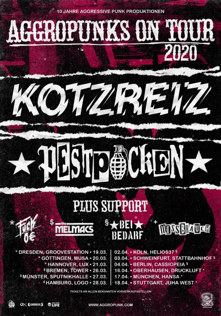 Aggropunks on Tour 2020 - Pestpocken & Kotzreiz