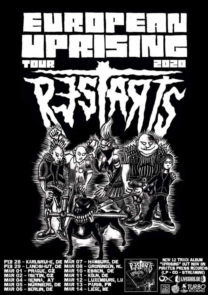 The Restarts - Europa-Tour 2020