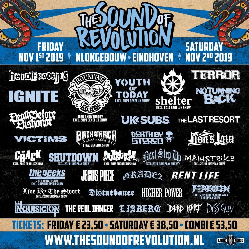 The Sound Of Revolution - Line-Up 2019