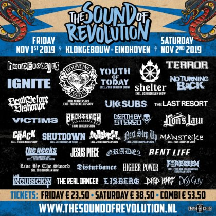 The Sound Of Revolution - Line-Up 2019