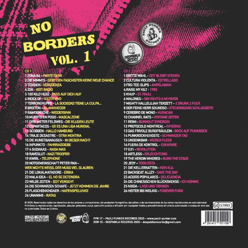 Sampler: No Borders Vol. 1 (Backcover, 2020)