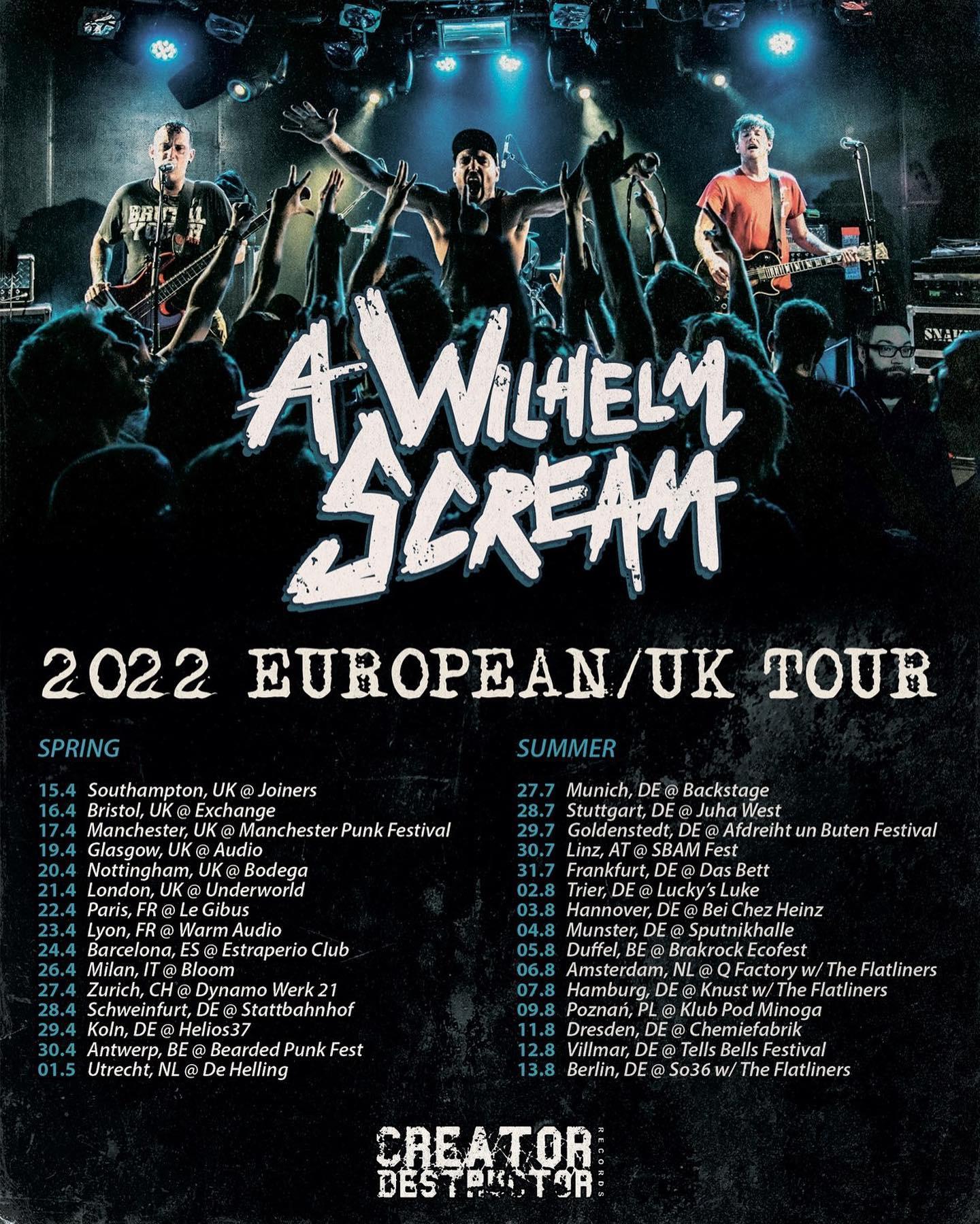 A Wilhelm Scream - Europa-Tour 2022