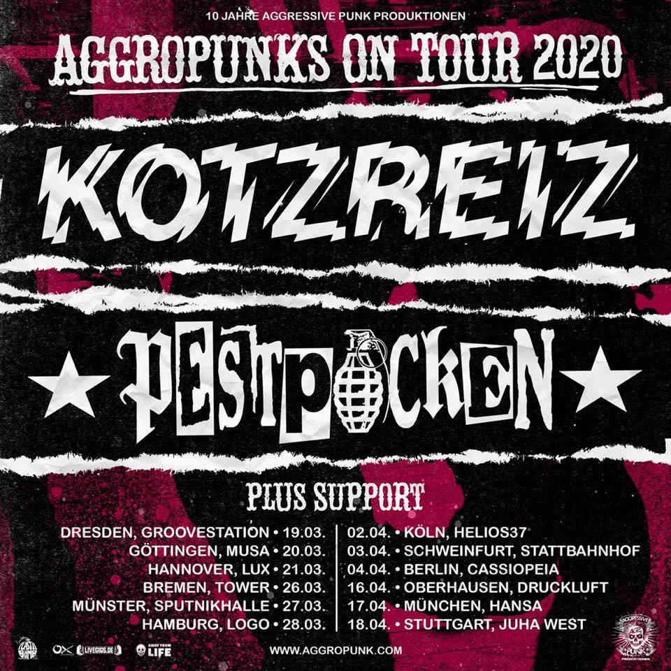 Aggropunks on Tour 2020 - Pestpocken und Kotzreiz