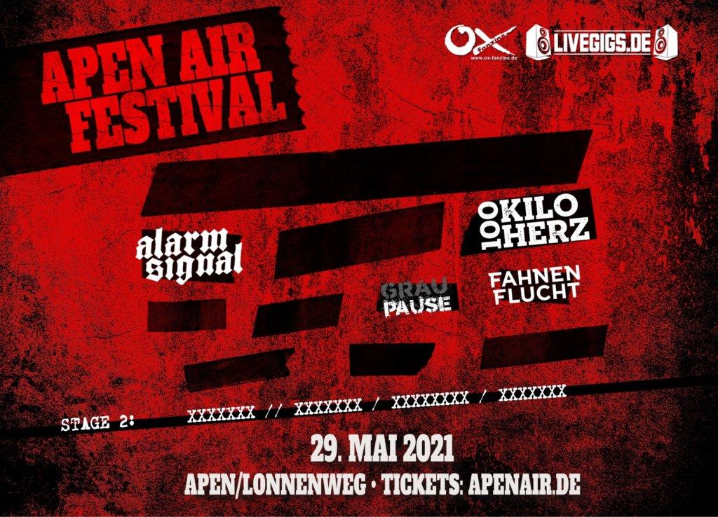 Bisheriges Line-Up für das Apen Air Festival 2021