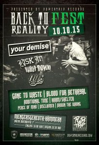 Back To Reality Fest - Hardcore 2015