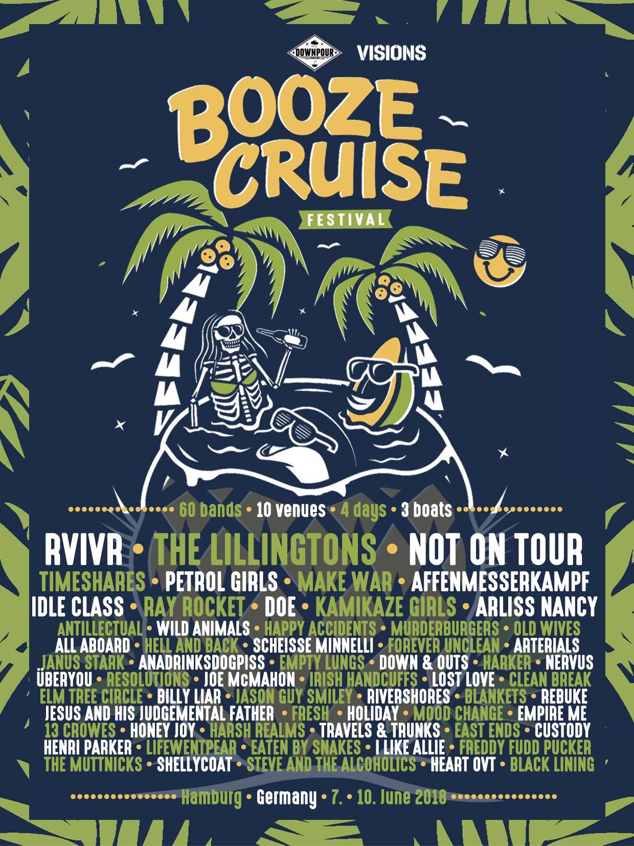 Booze Cruise Festival Line-Up 2018