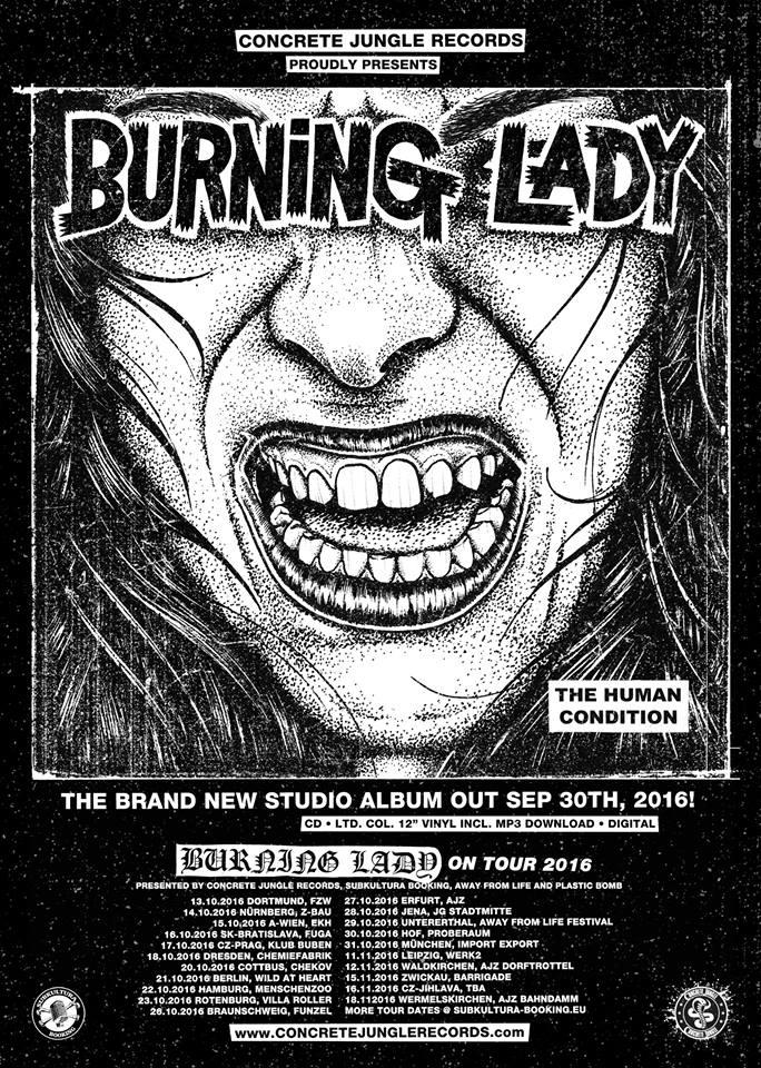 Burning Lady Tour 2016