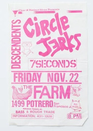 Circle Jerks, Descendents, 7 Seconds - Flyer