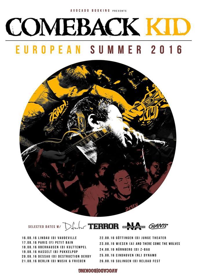 Comeback Kid - Sommer Tour 2016