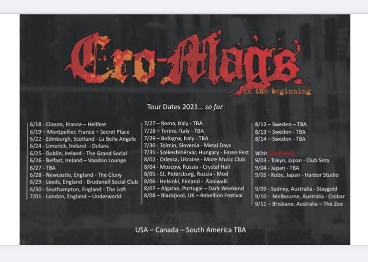 Cro-Mags - Europa-Tour 2021