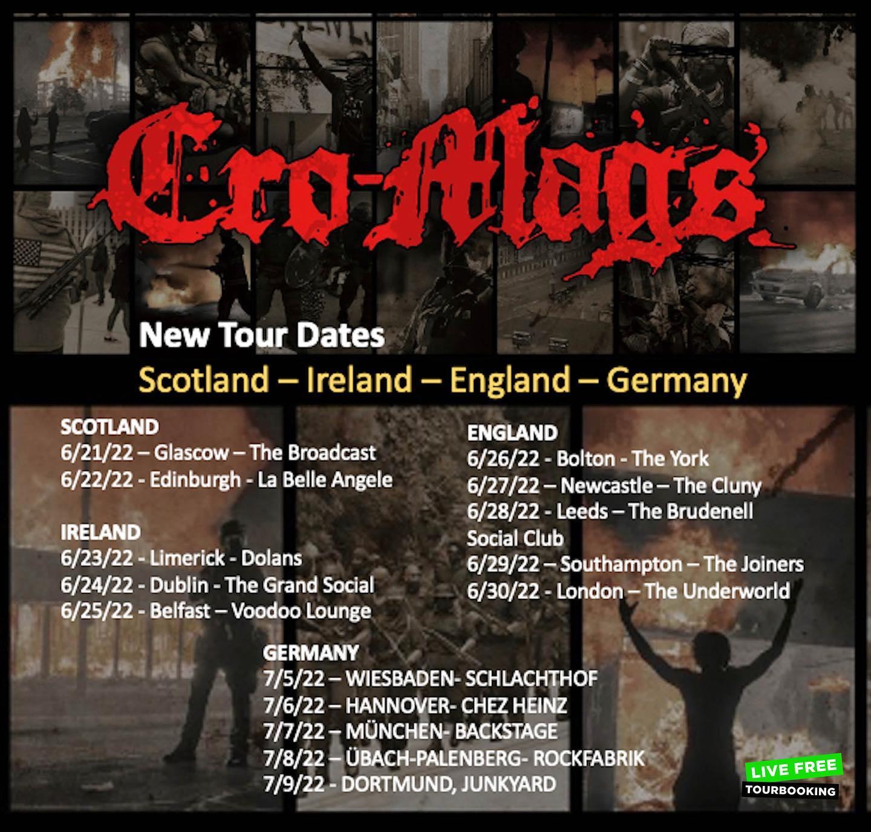 Cro-Mags - Europa-Tour 2022