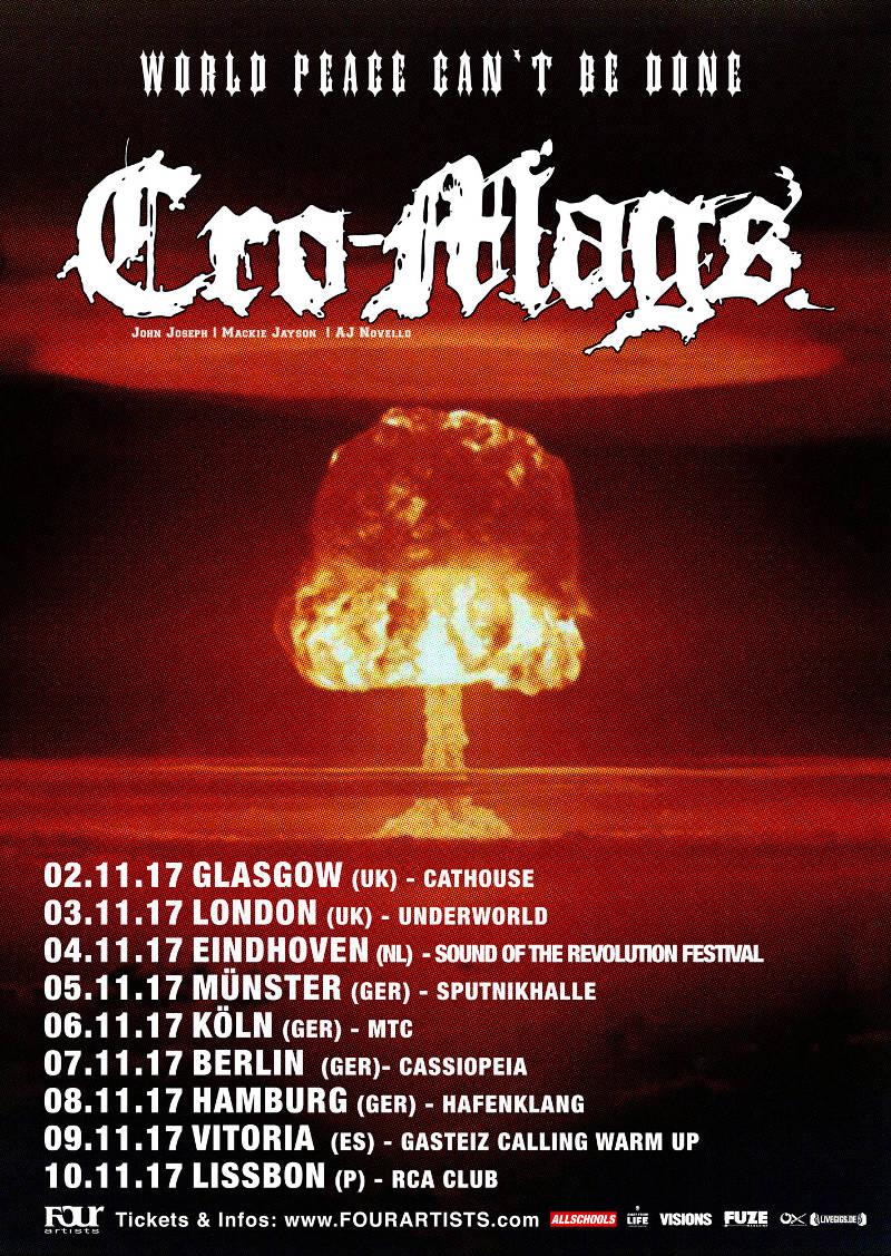 Cro-Mags Tour 2017