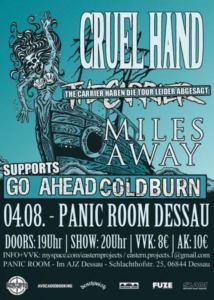 Nils veranstaltet mit Coldborn und Go Ahead selbst schon Shows.