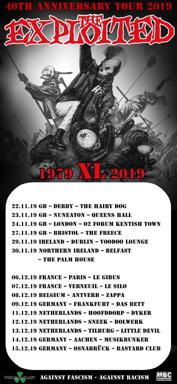 40 Jahre The Exploited - Europa-Tour 2019 (Part II)