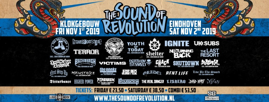 Line-Up The Sound Of Revolution 2019