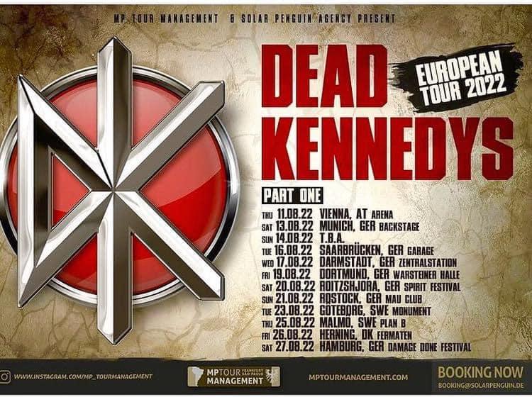 Dead Kenndys - Europa-Tour 2022