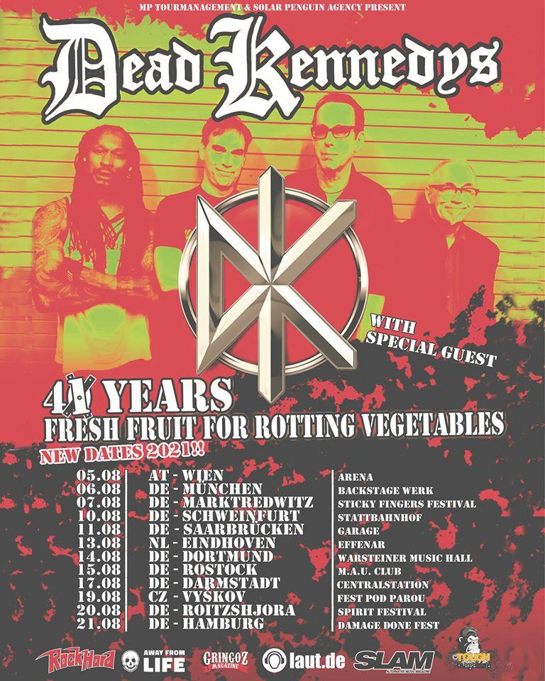 Dead Kennedys - Europa-Tour 2021