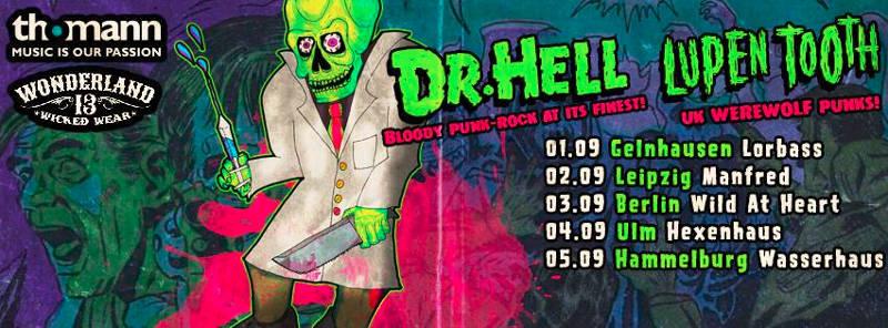 Tourdates von Lupen Tooth und Dr. Hell Anfang September.