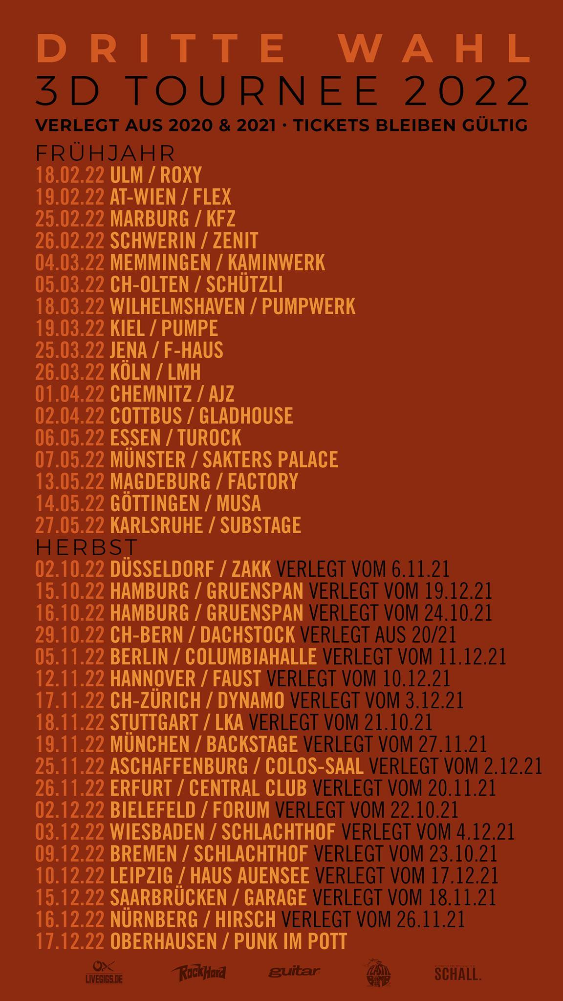 Dritte Wahl - 3D-Tournee 2022