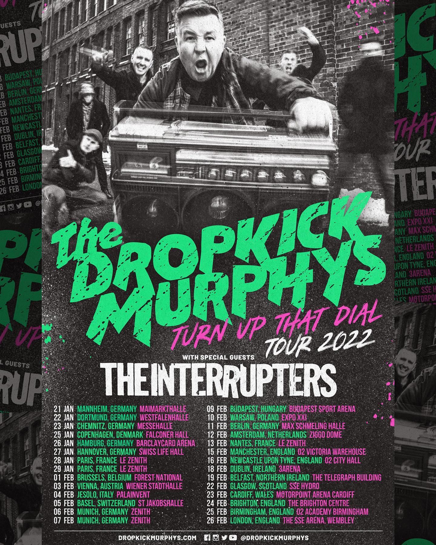 Dropkick Murphys - Tun Up That Dial Tour 2022 w. The Interrupters