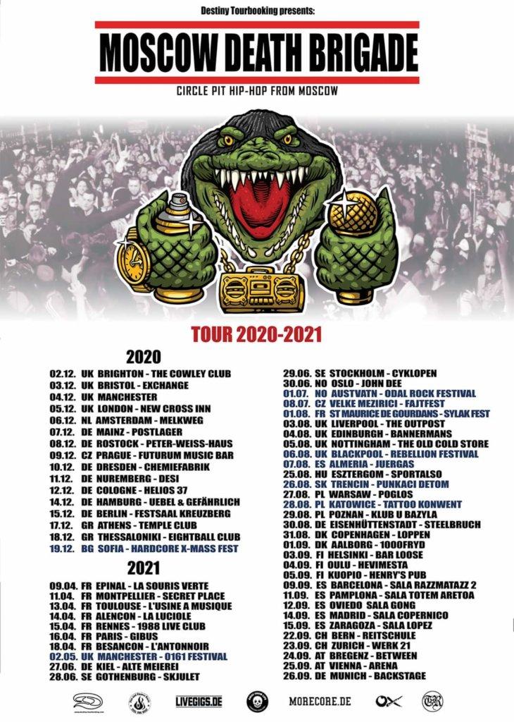 Moscow Death Brigade Tour 2020 - 2021