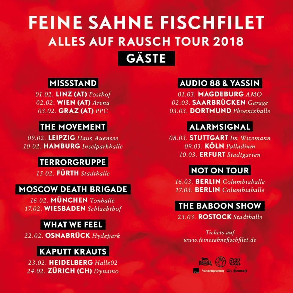 Feine Sahne Fischfilet Tour 2018