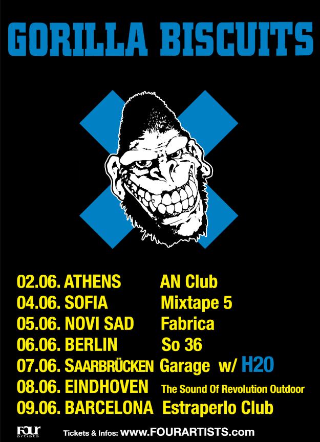 Gorilla Biscuits - Europa-Tour 2019