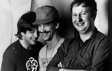 Von links nach rechtrs: Grant Hart, Greg Norton und Bob Mould (Hüsker Dü Promobild 1986)