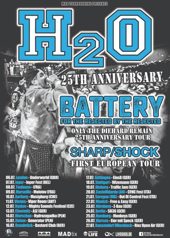 H2O - Battery - Europa-Tour 2019