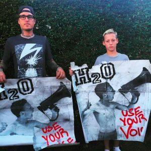 H2O Sänger Tobey Morse und sein Sohn | Quelle: H2O Facebook