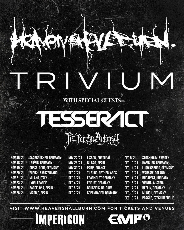 Heaven Shall Burn & Trivium - Tour 2021