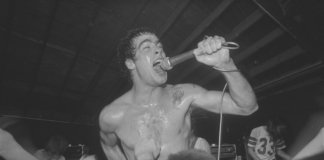 Henry Rollins with Black Flag (1983, Pic by UCLA Library Special Collections.)