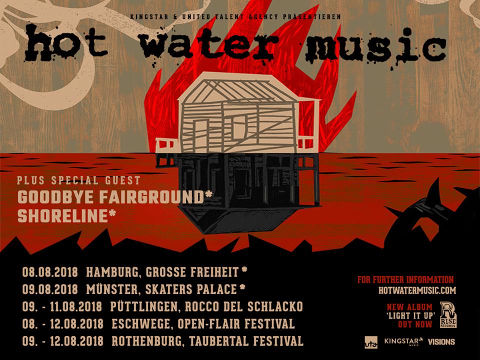 Hot Water Music - Europa-Tour 2018