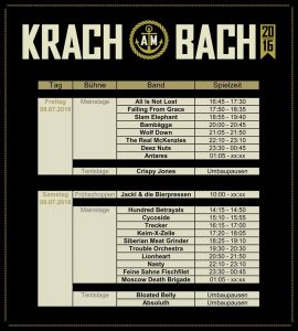 Krach Am Bach Running Order 2016