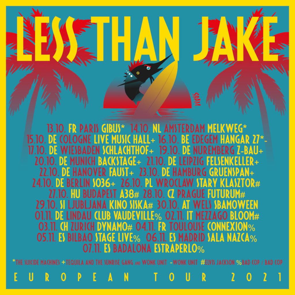 Less Than Jake - Europa-Tour 2021
