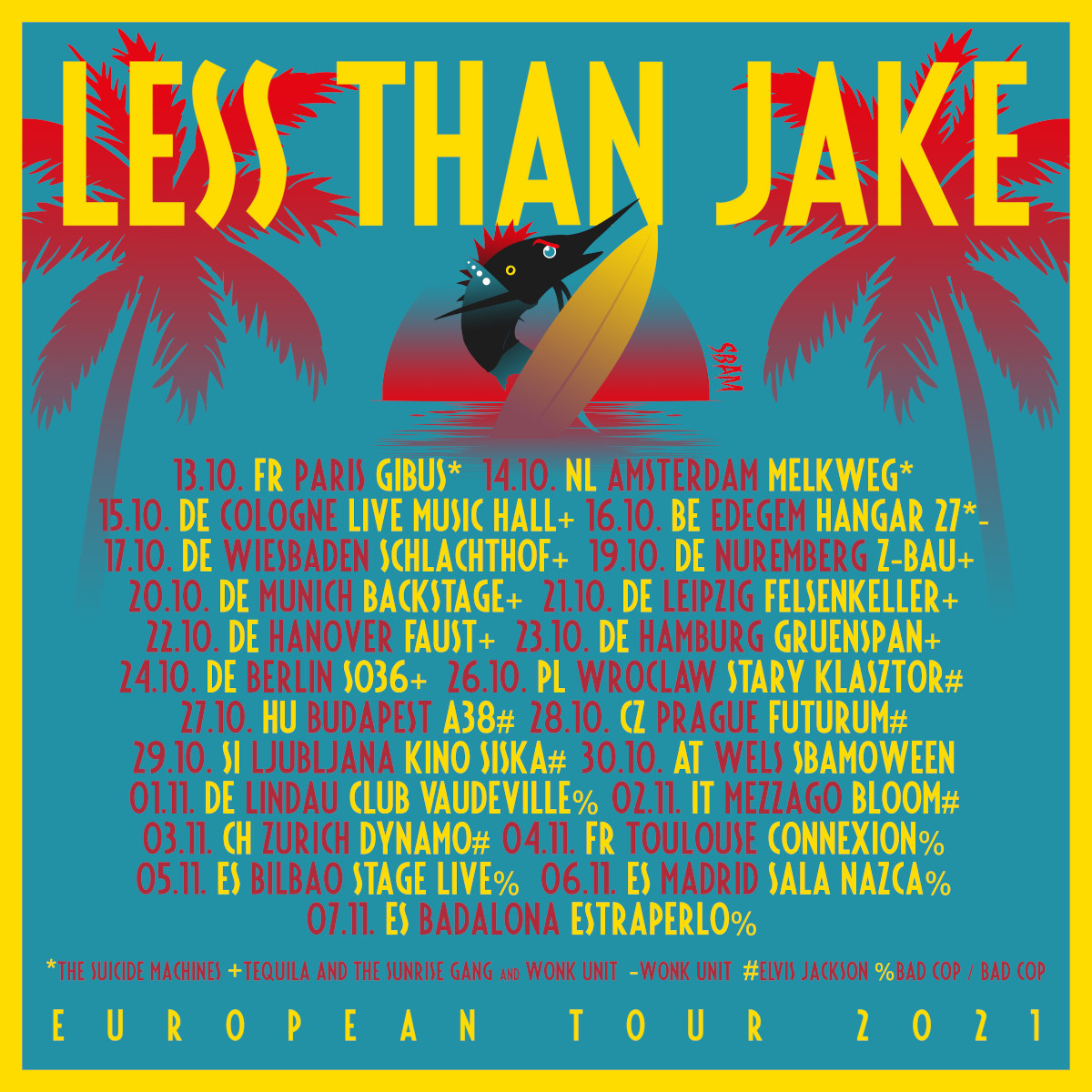 Less Than Jake - Europa-Tour 2021