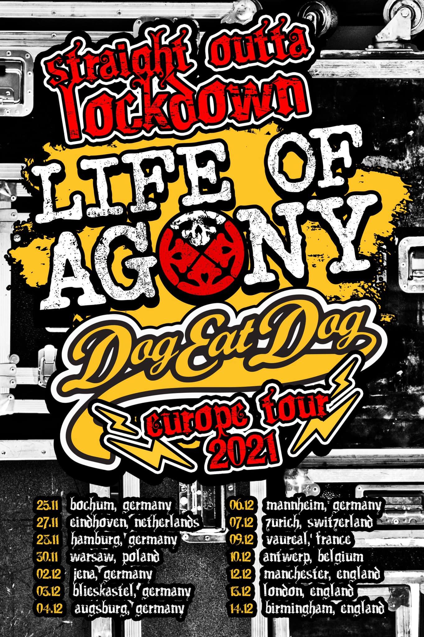 Life Of Agony & Dog Eat Dog - Europa-Tour 2021