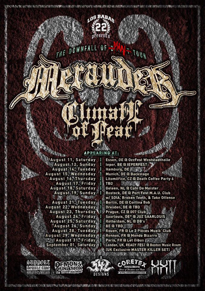 Merauder - Climate Of Fear - Tour 2018