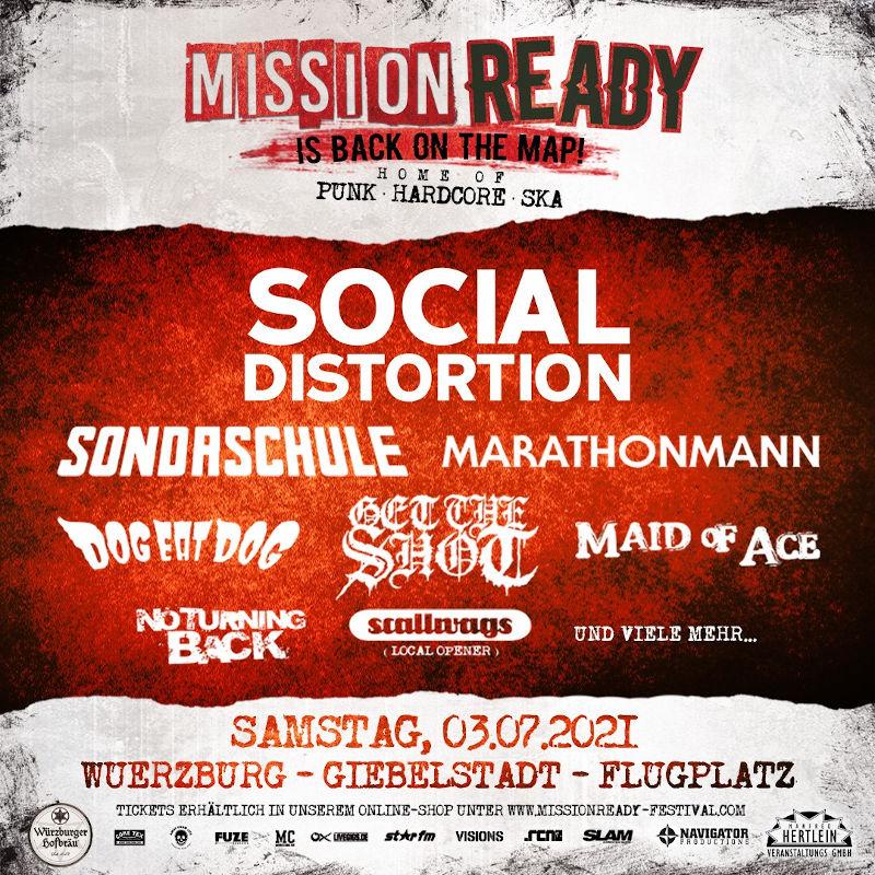 Die ersten Bands für das Mission Ready 2021