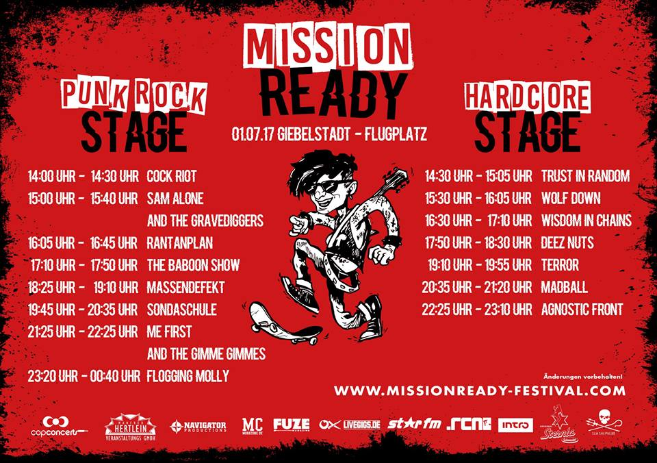 Mission Ready - Running Order 2017