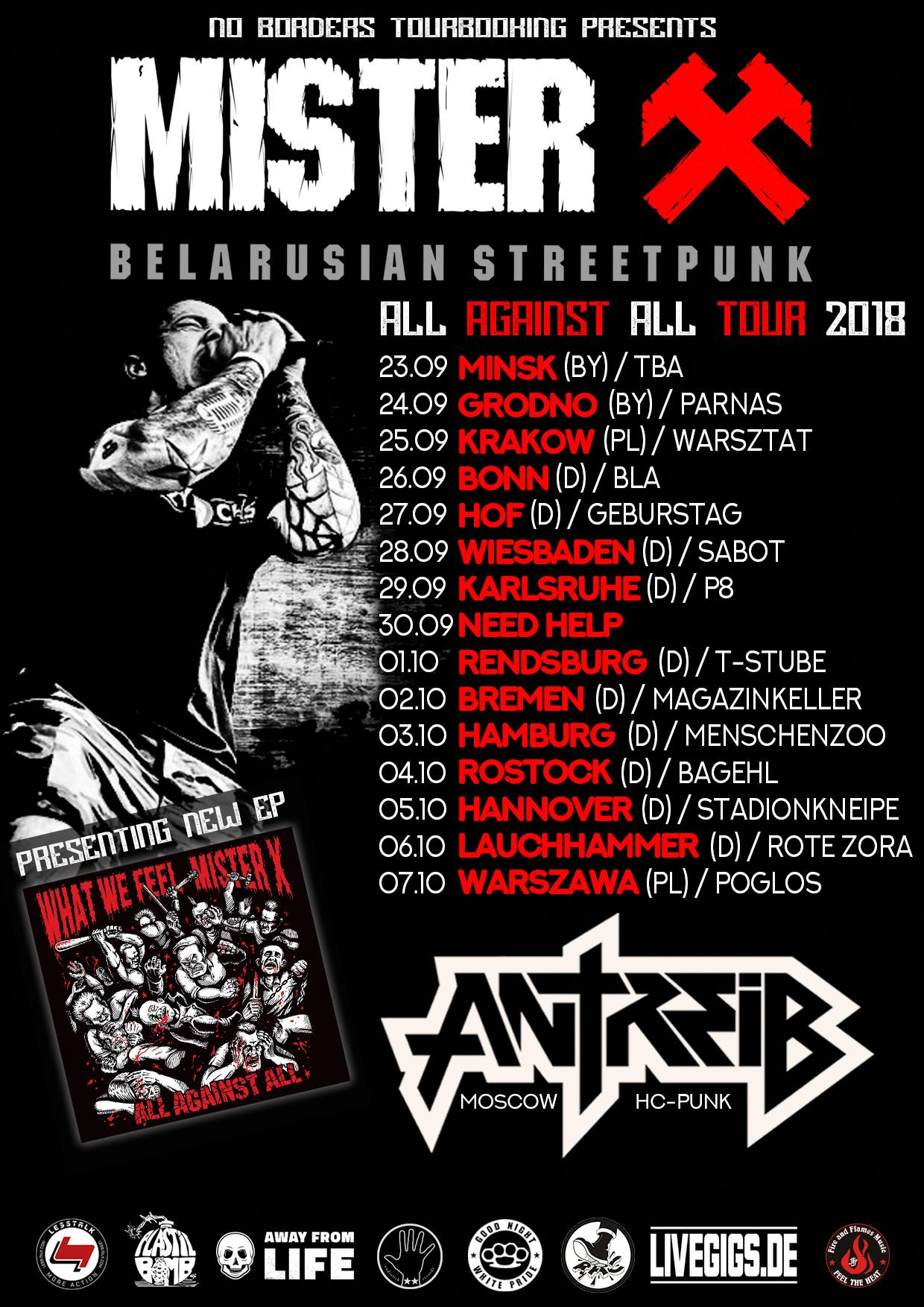 Mister X - Antireb - Europa-Tour 2018
