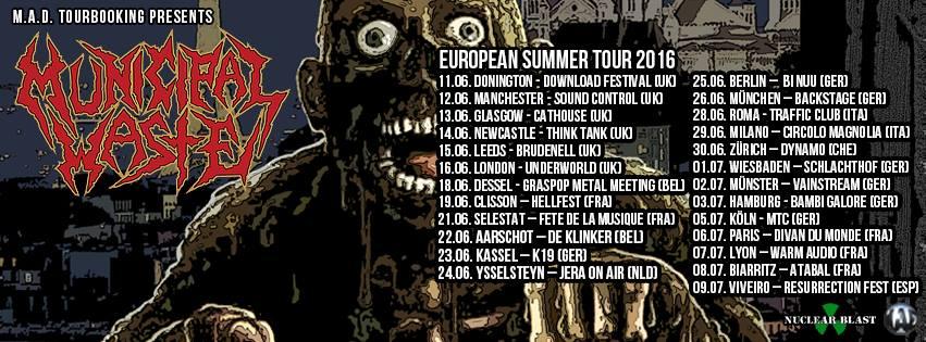 Municipal Waste - Europa Tour 2016
