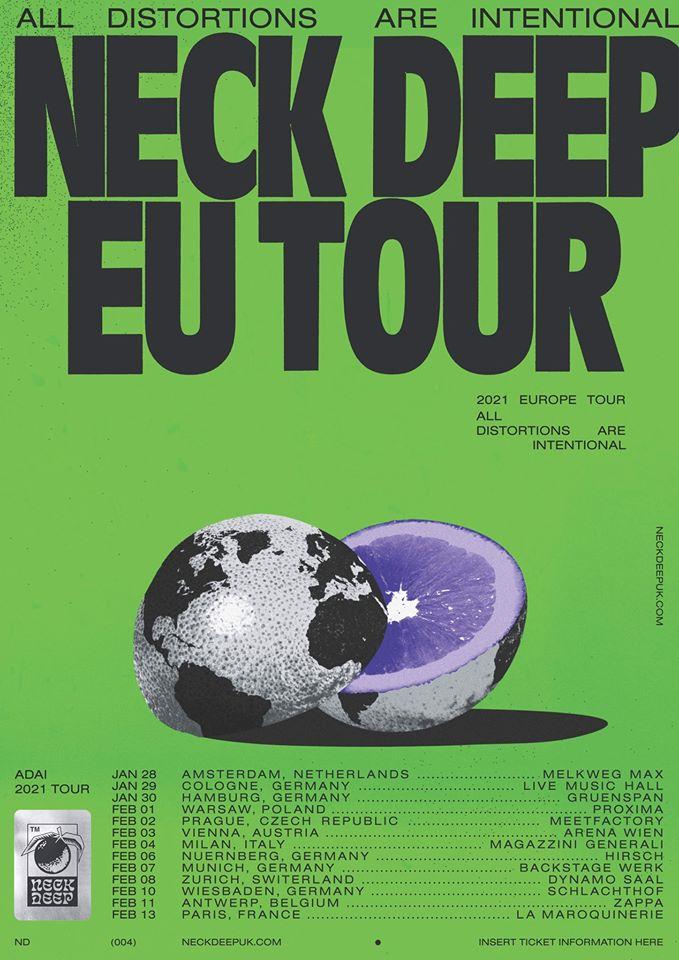 Neck Deep - Europa-Tour 2021