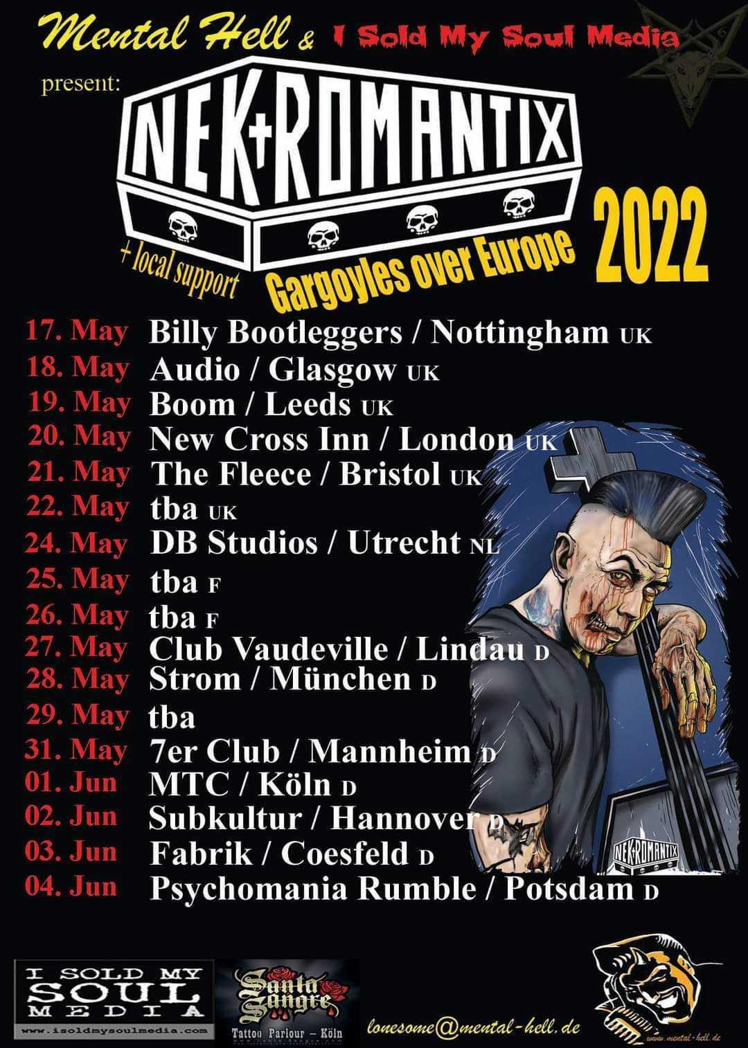 "Nekromantix - ""Gargoyles Over Europe""-Tour 2022"