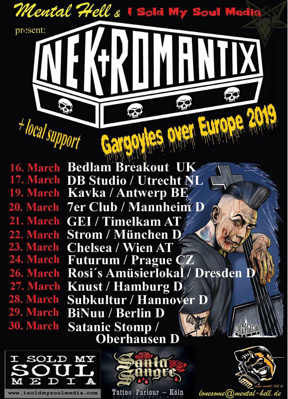 Nekromantix - Tour 2019