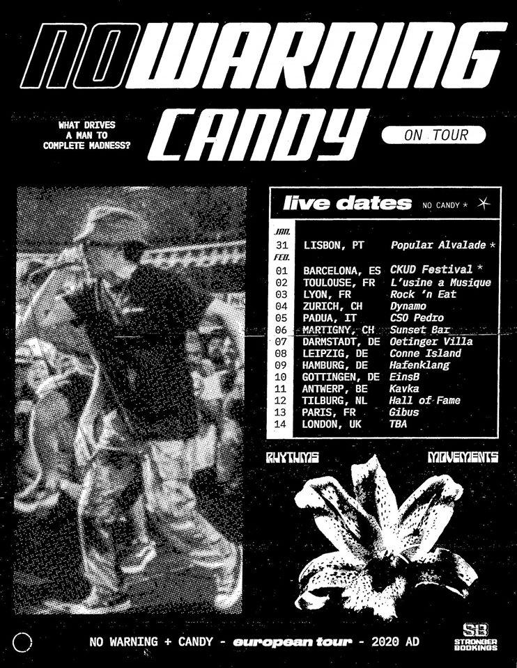 No Warning & Candy - Europa-Tour 2020