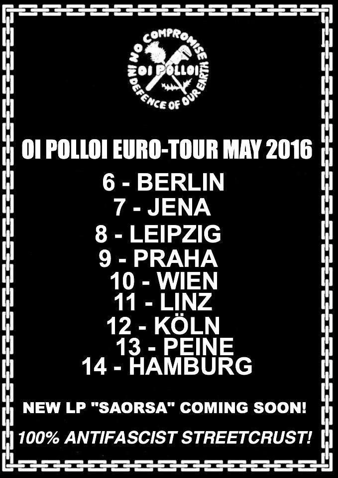 Oi Polloi uropa Tour